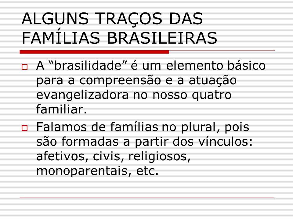 ALGUNS TRAÇOS DAS FAMÍLIAS BRASILEIRAS