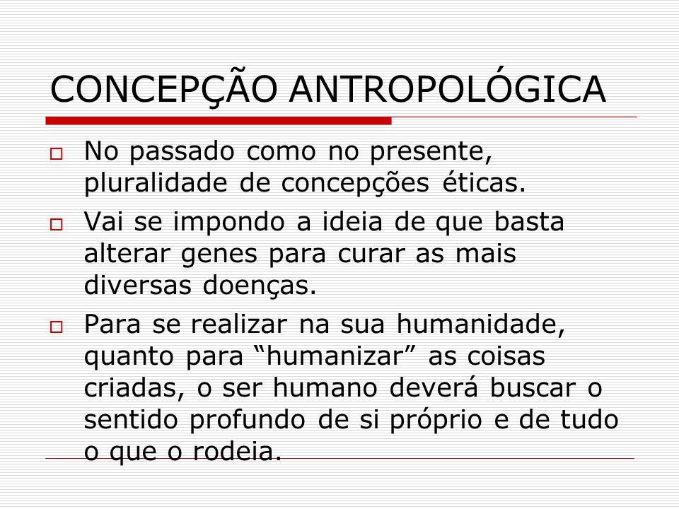 CONCEPÇÃO ANTROPOLÓGICA