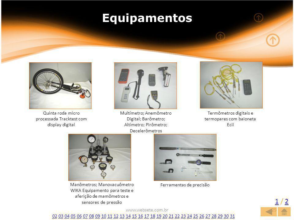 Equipamentos Quinta roda micro processada Tracktest com display digital.