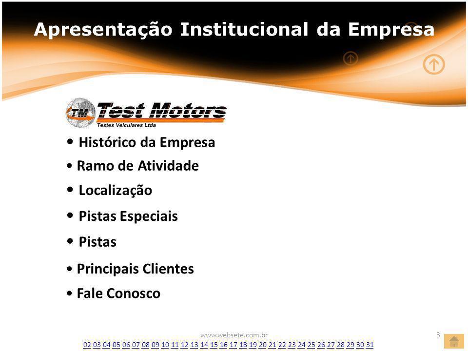 Apresentação Institucional da Empresa