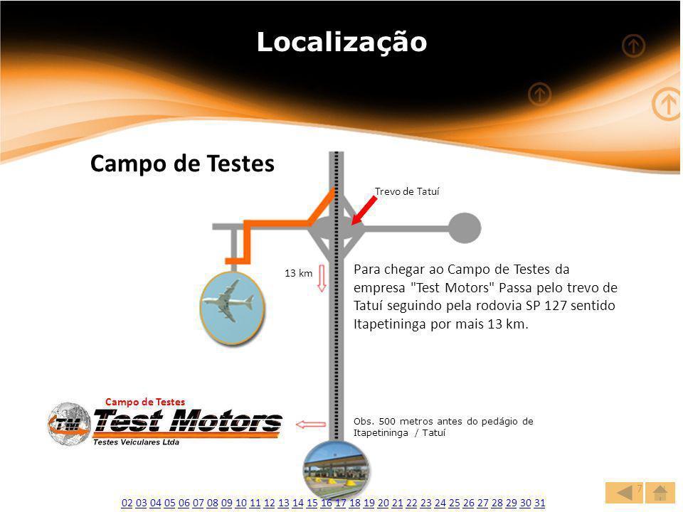 Localização Campo de Testes