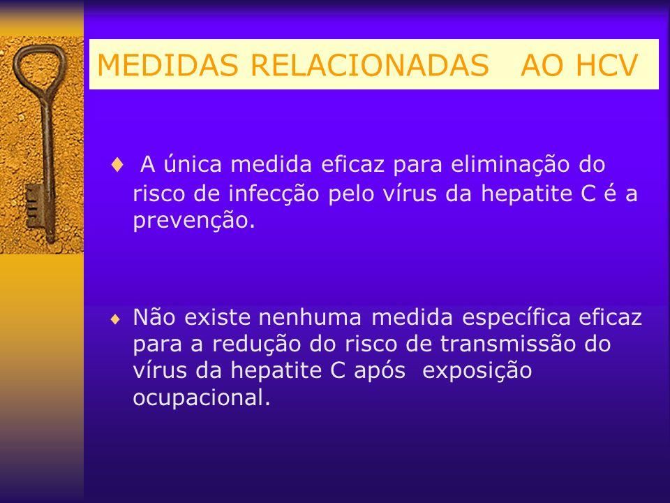 MEDIDAS RELACIONADAS AO HCV