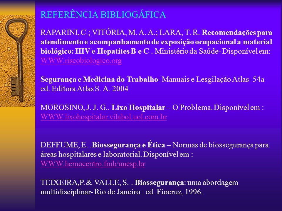 REFERÊNCIA BIBLIOGÁFICA
