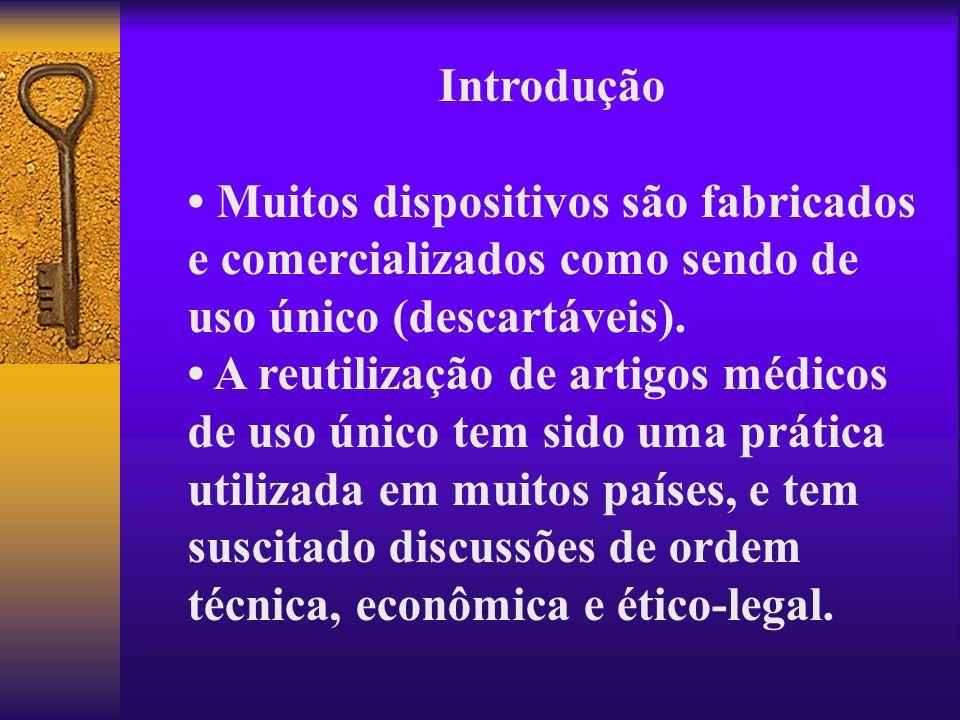 Introdução • Muitos dispositivos são fabricados e comercializados como sendo de uso único (descartáveis).
