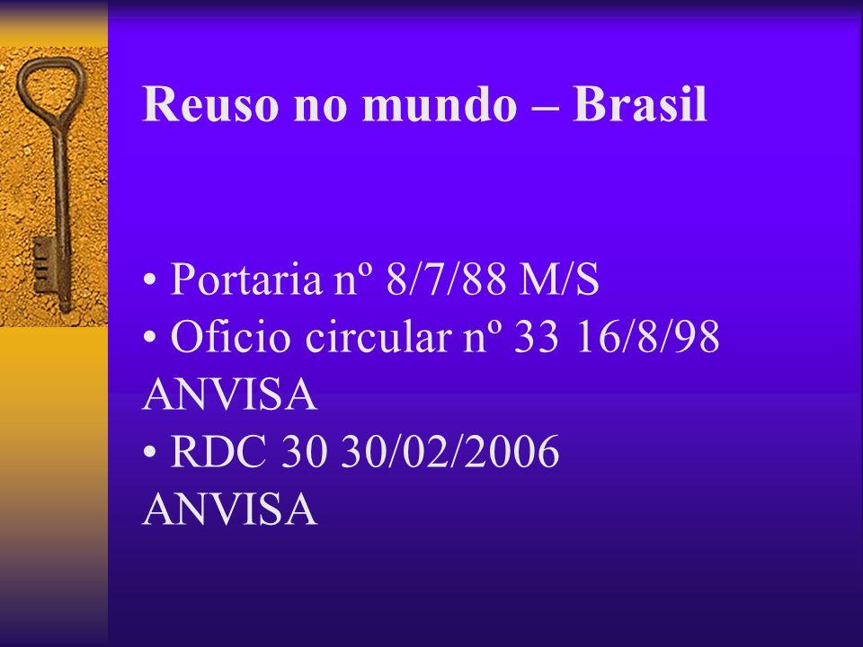 Reuso no mundo – Brasil • Portaria nº 8/7/88 M/S