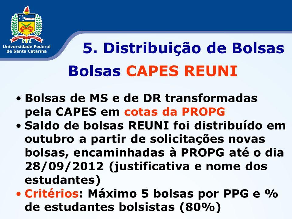 5. Distribuição de Bolsas