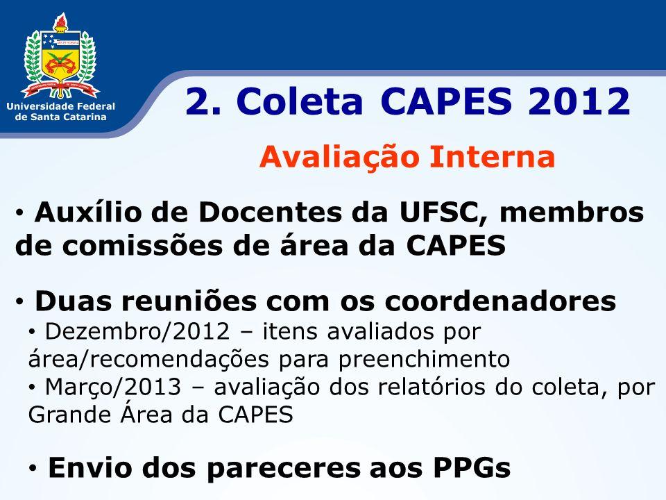 2. Coleta CAPES 2012 Avaliação Interna