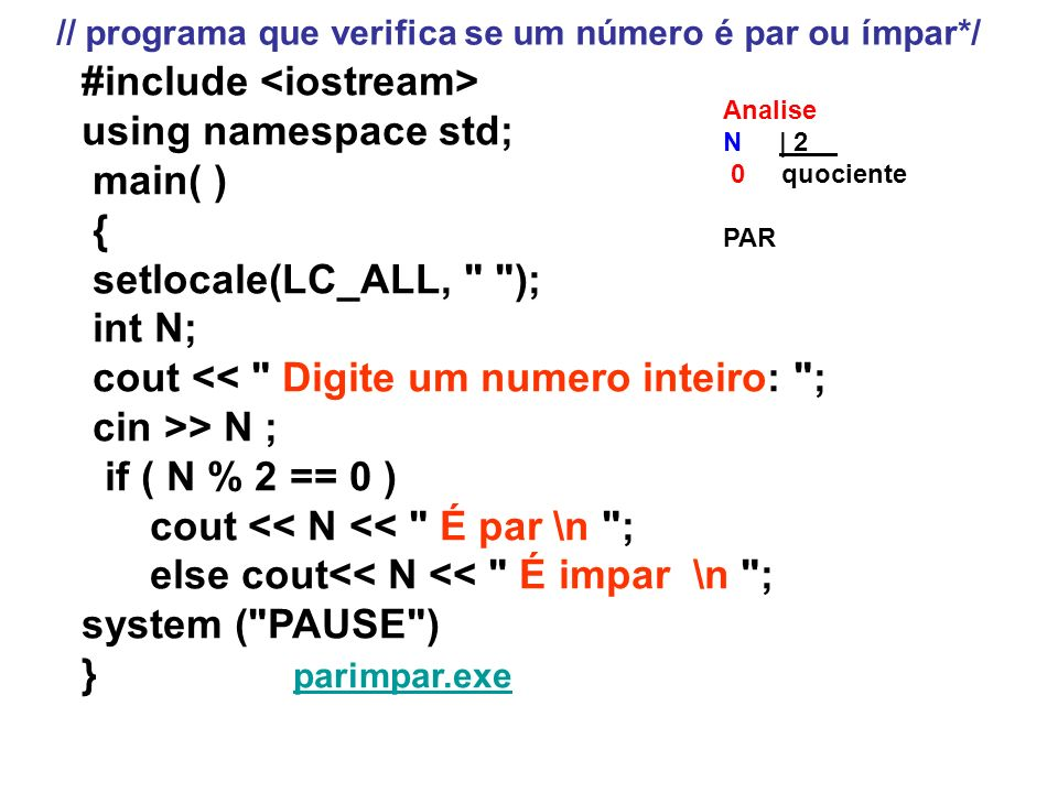 #include <iostream> using namespace std; main( ) {