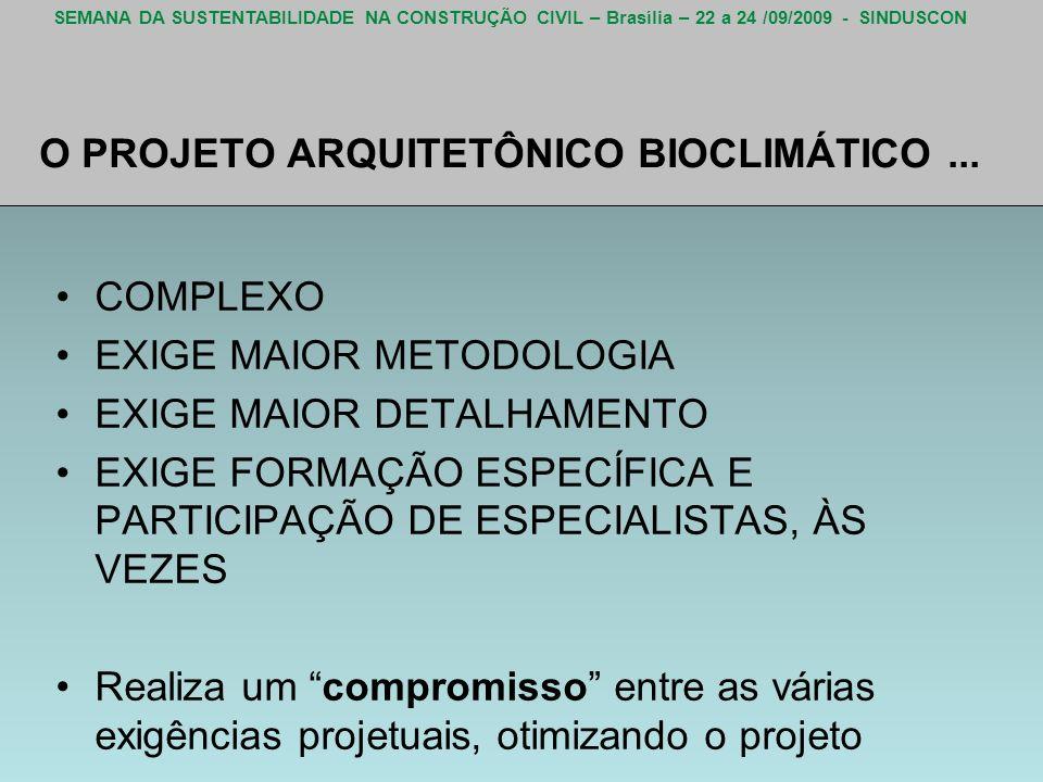 O PROJETO ARQUITETÔNICO BIOCLIMÁTICO ...