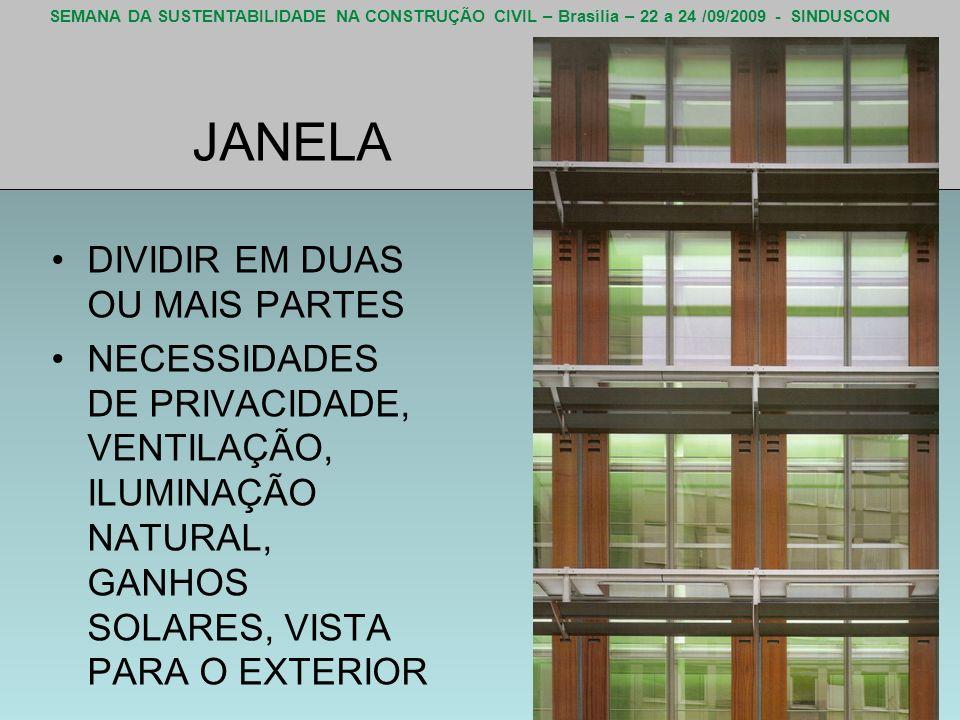 JANELA DIVIDIR EM DUAS OU MAIS PARTES