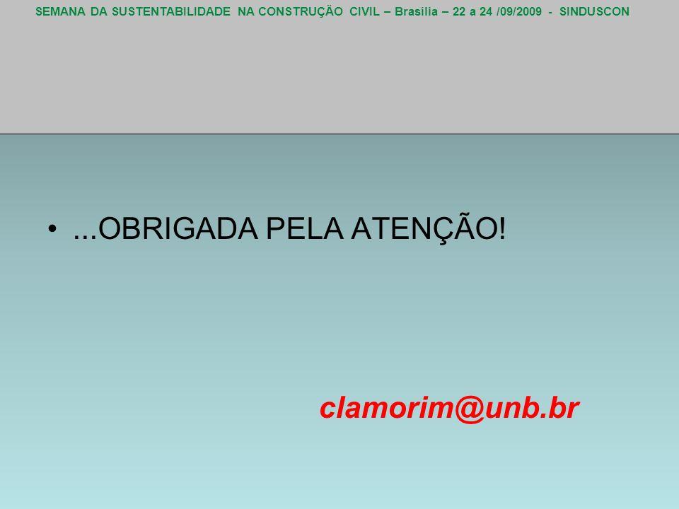 ...OBRIGADA PELA ATENÇÃO! clamorim@unb.br