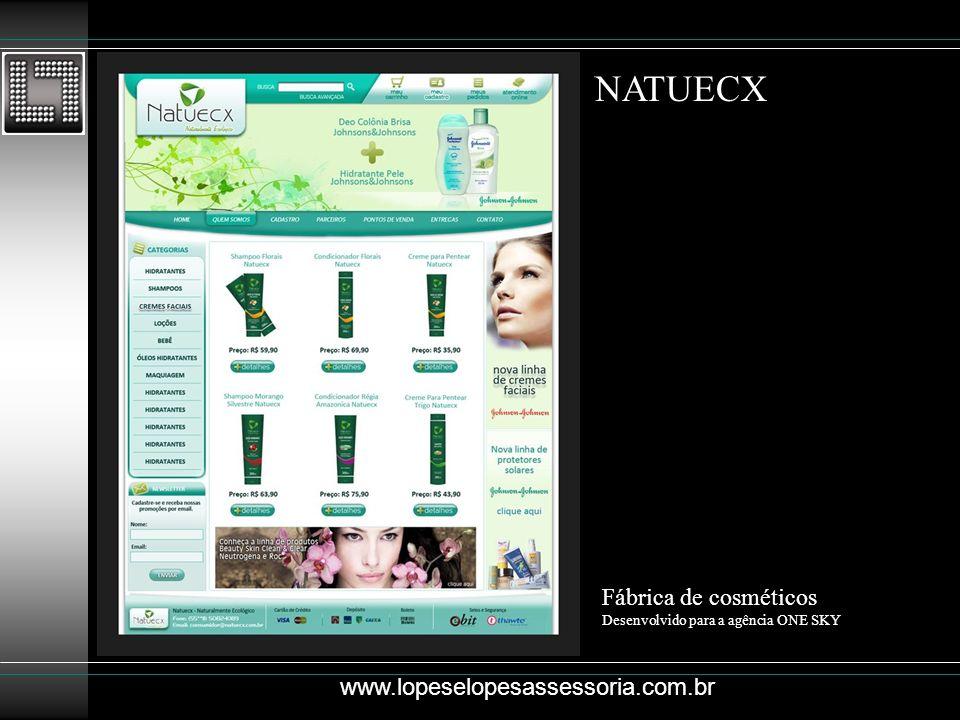 NATUECX Fábrica de cosméticos www.lopeselopesassessoria.com.br