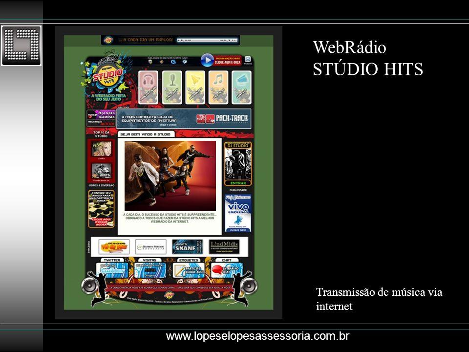 WebRádio STÚDIO HITS Transmissão de música via internet
