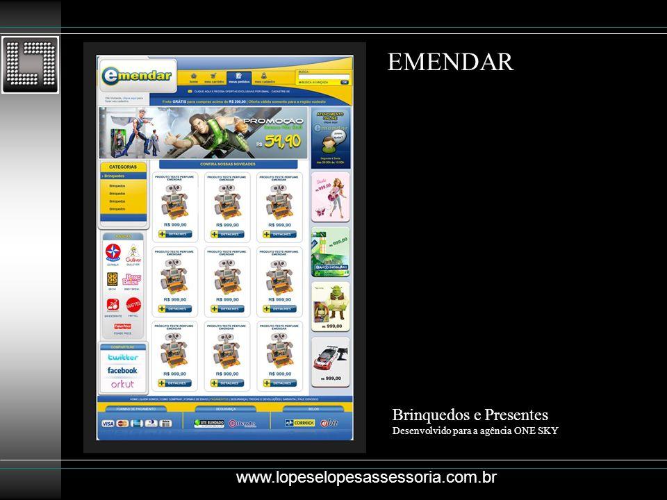EMENDAR Brinquedos e Presentes www.lopeselopesassessoria.com.br