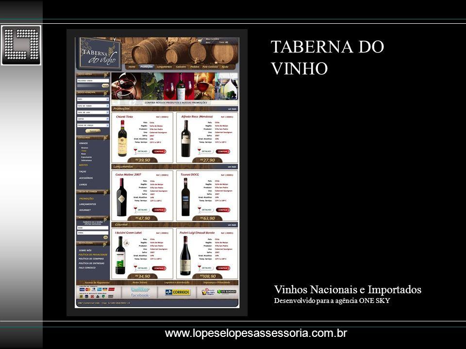 TABERNA DO VINHO Vinhos Nacionais e Importados