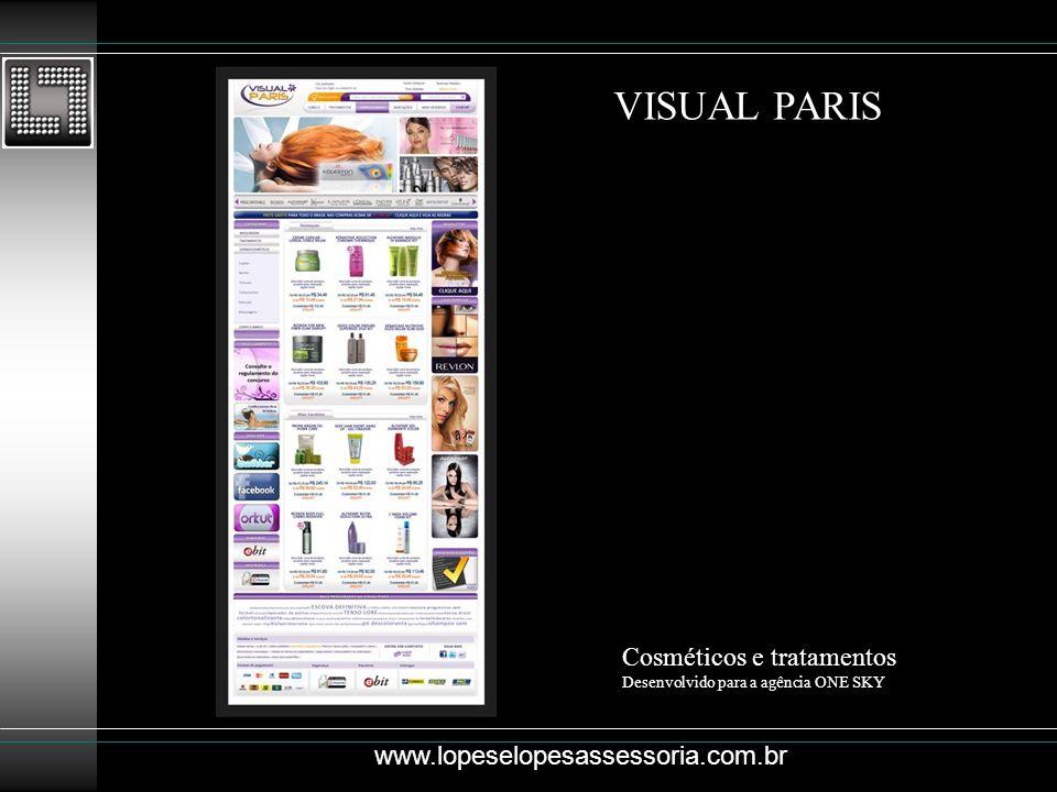 VISUAL PARIS Cosméticos e tratamentos www.lopeselopesassessoria.com.br