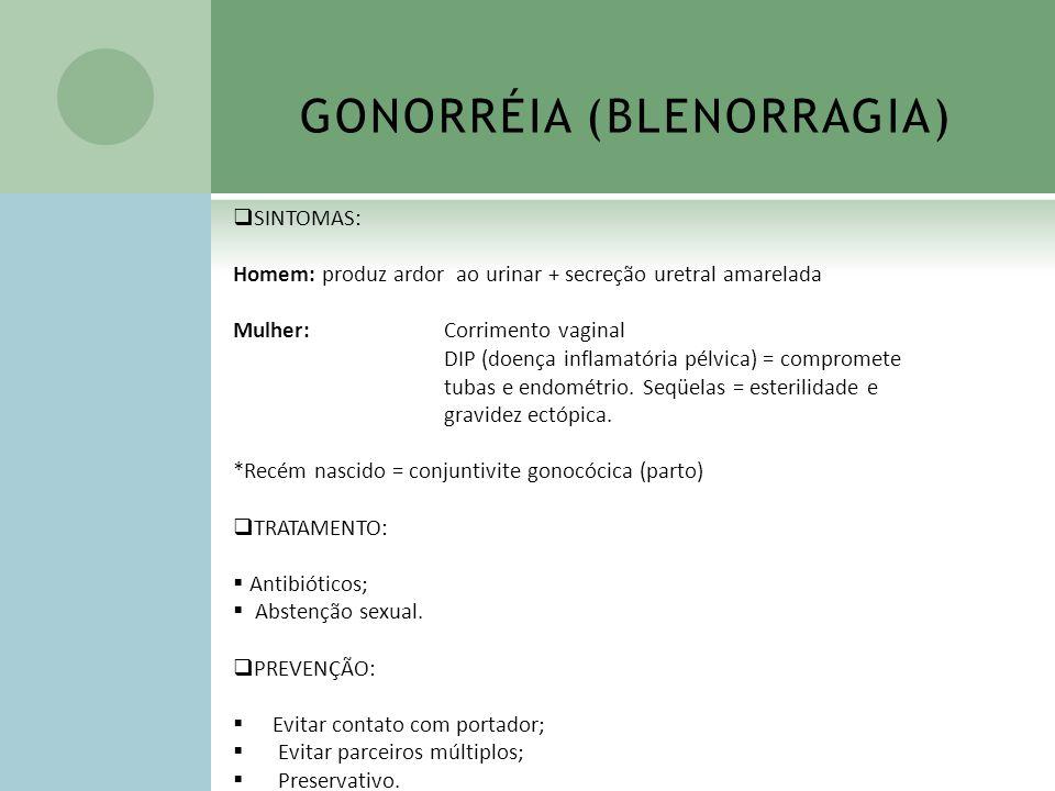 GONORRÉIA (BLENORRAGIA)