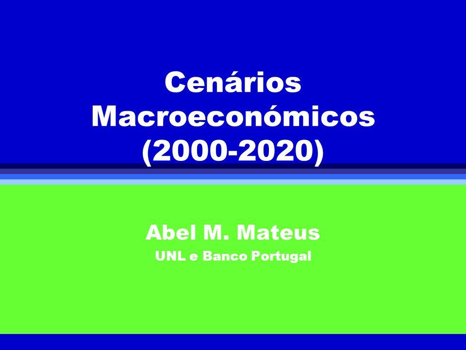 Cenários Macroeconómicos (2000-2020)
