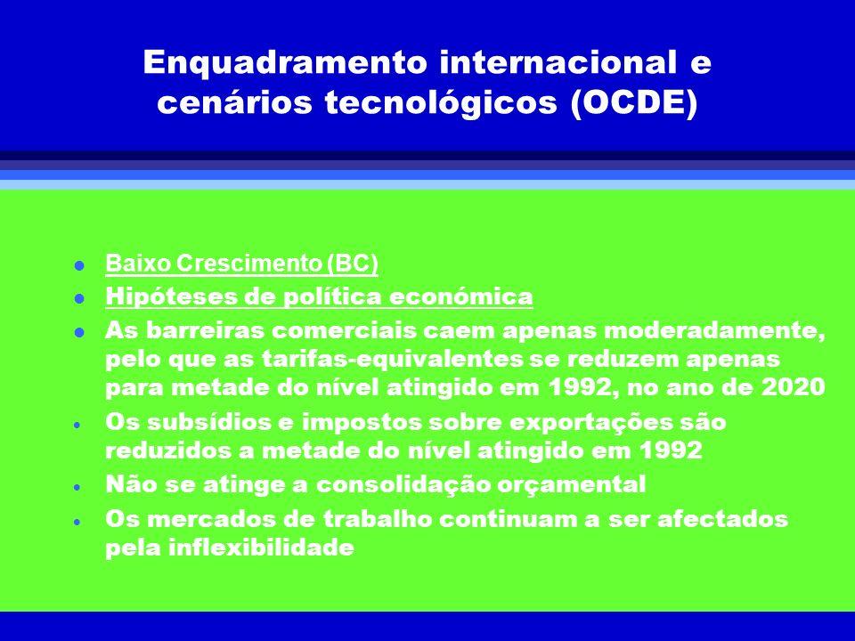 Enquadramento internacional e cenários tecnológicos (OCDE)