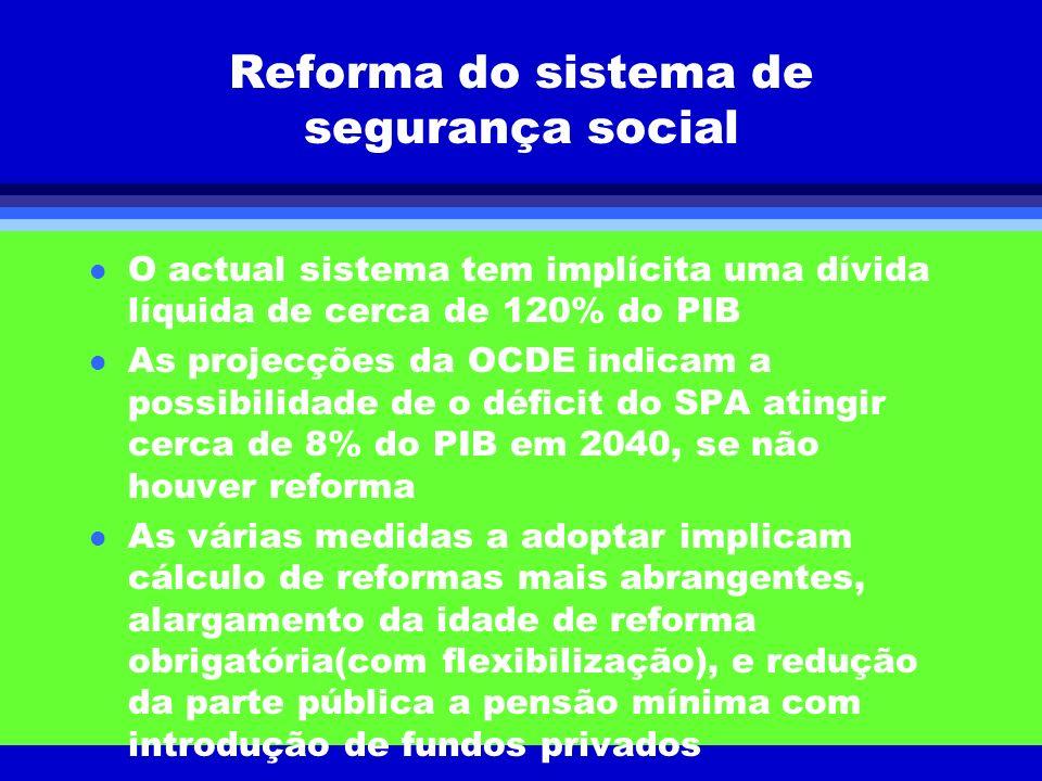 Reforma do sistema de segurança social