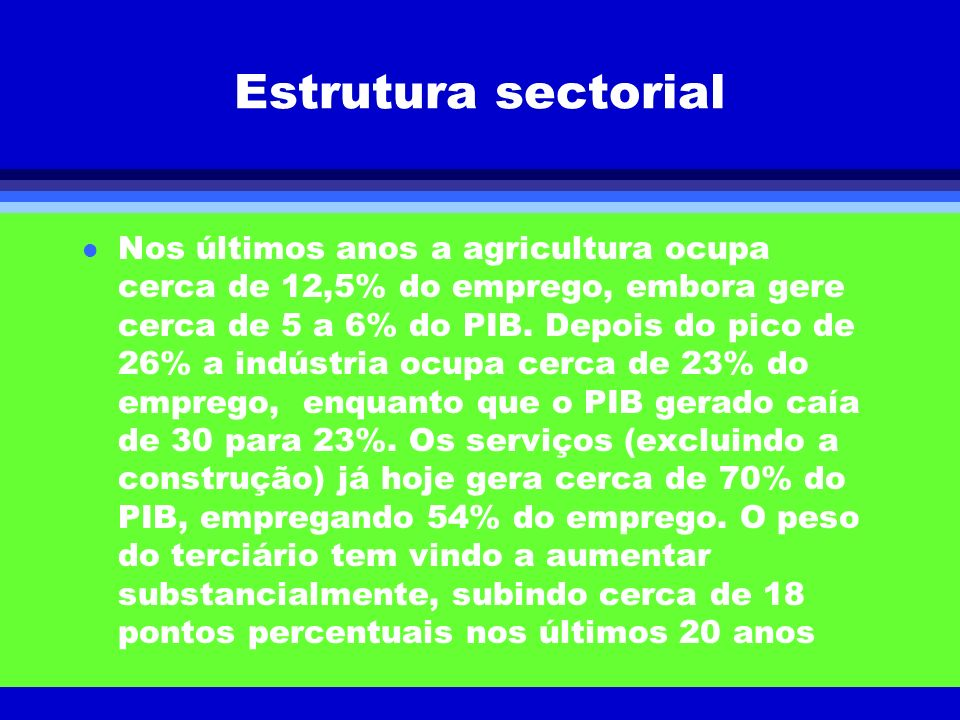 Estrutura sectorial