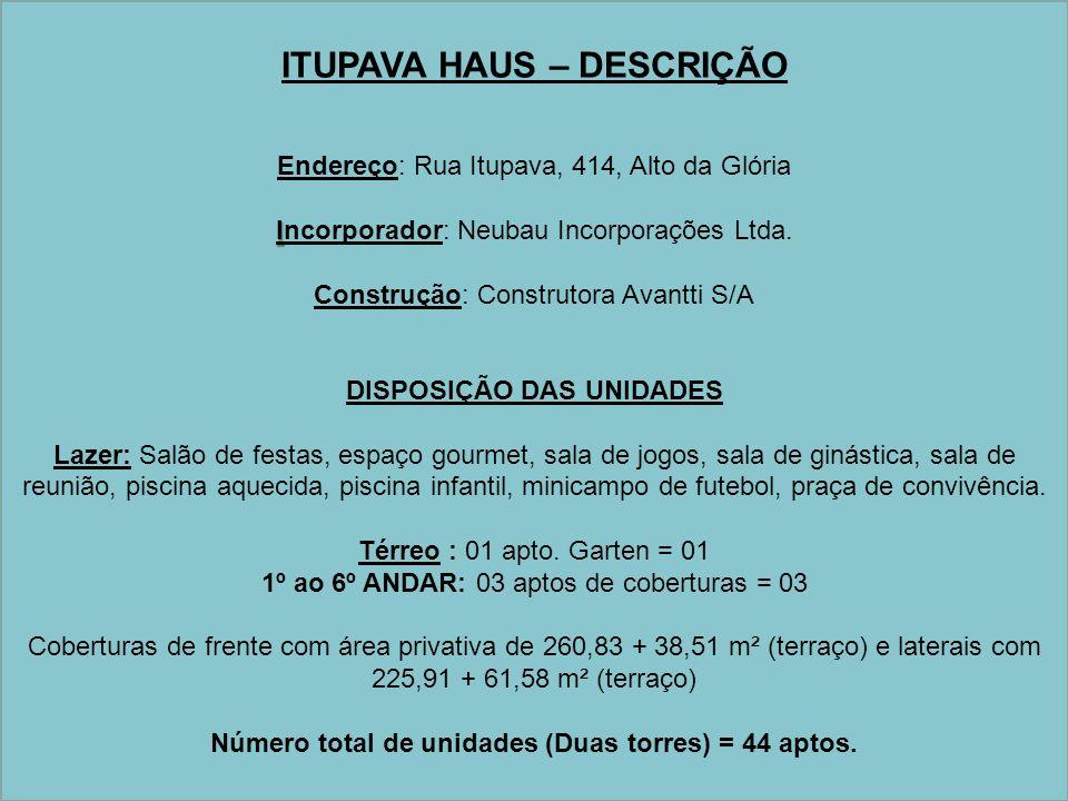 ITUPAVA HAUS – DESCRIÇÃO