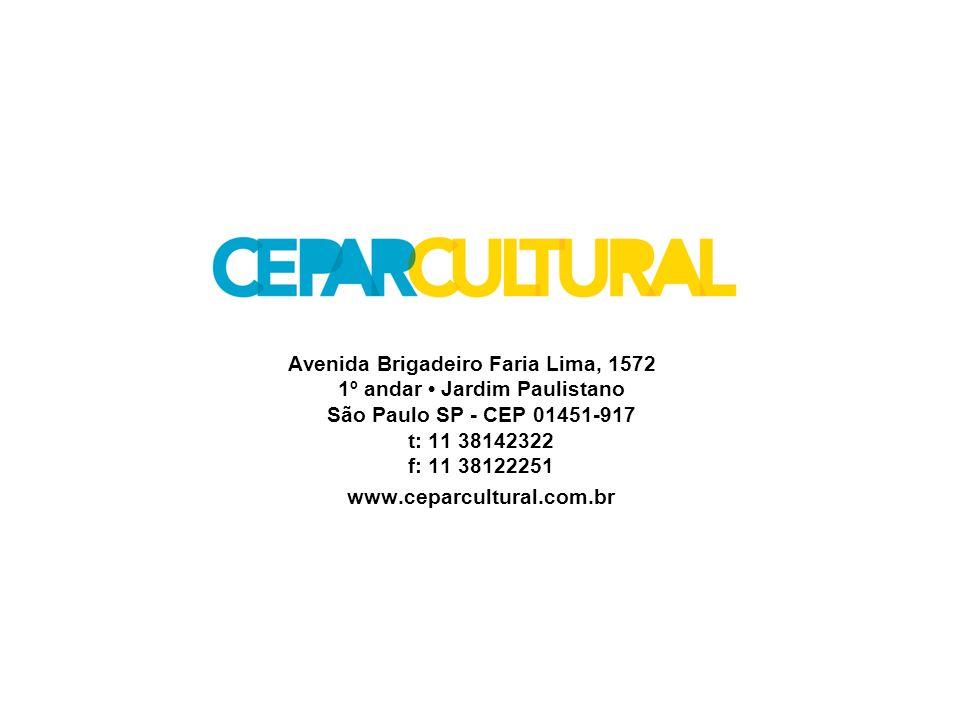Avenida Brigadeiro Faria Lima, 1572 1º andar • Jardim Paulistano São Paulo SP - CEP 01451-917 t: 11 38142322 f: 11 38122251