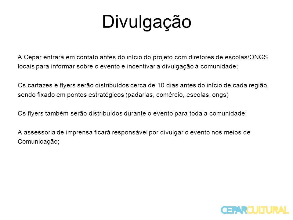 Divulgação A Cepar entrará em contato antes do início do projeto com diretores de escolas/ONGS.