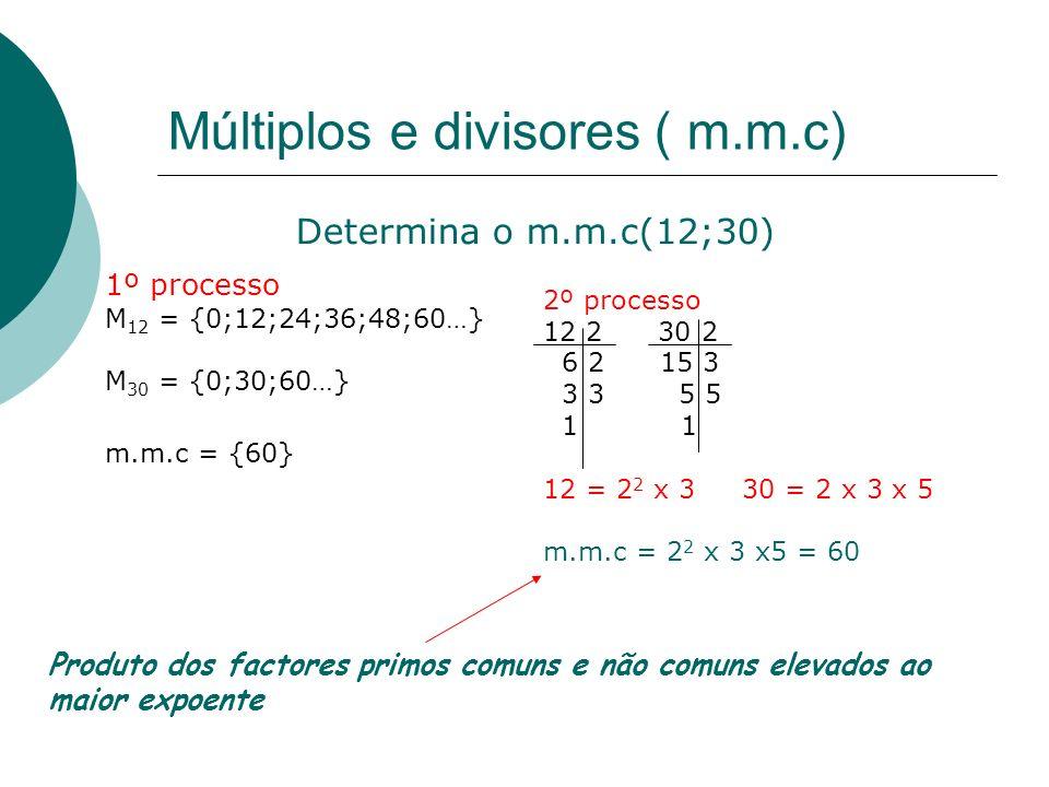 Múltiplos e divisores ( m.m.c)