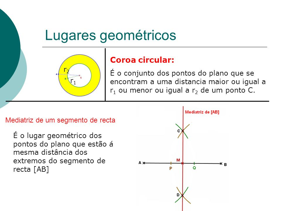 Mediatriz de um segmento de recta