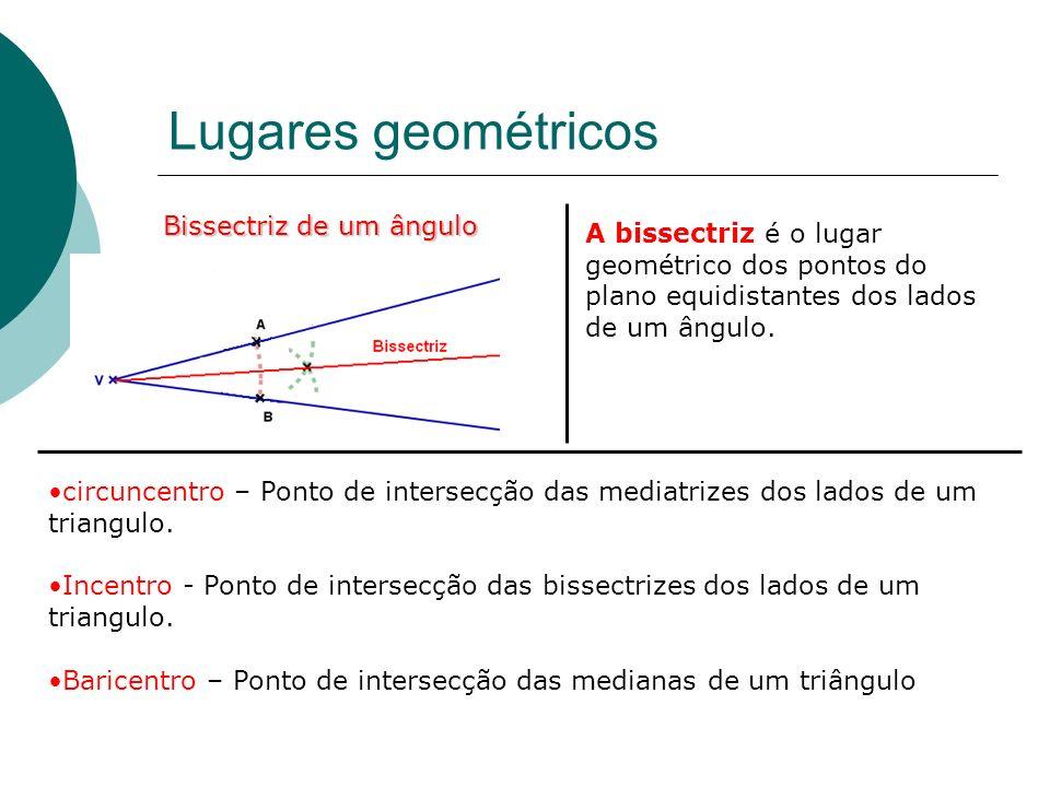 Lugares geométricos Bissectriz de um ângulo