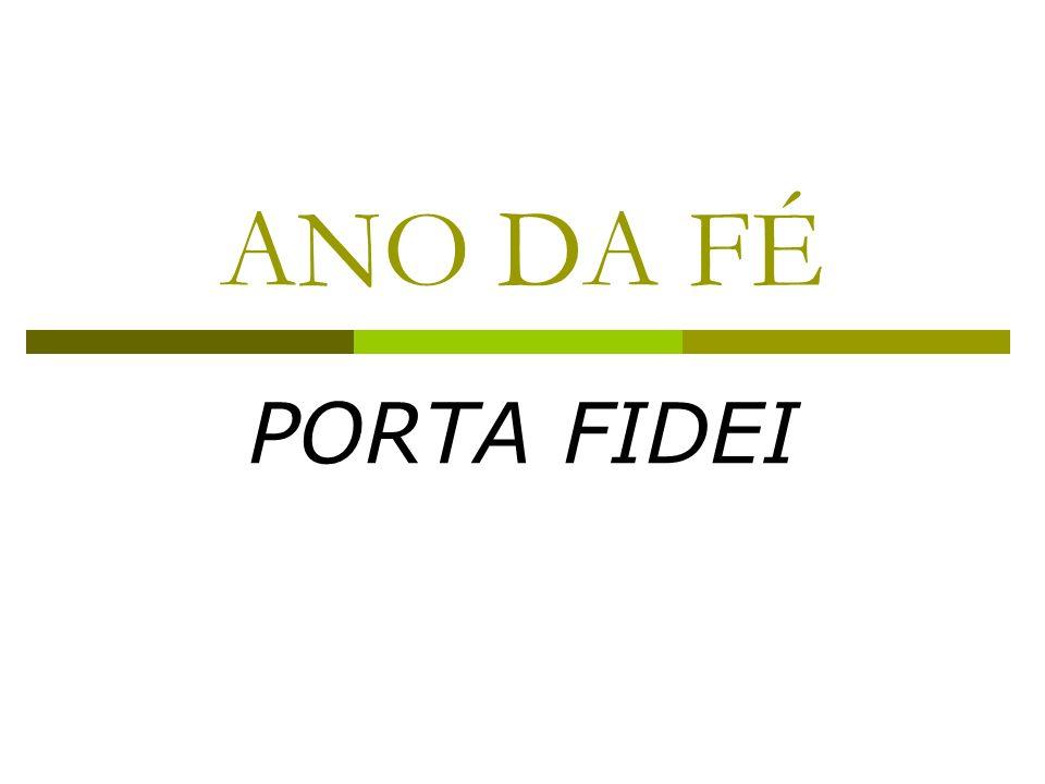 ANO DA FÉ PORTA FIDEI