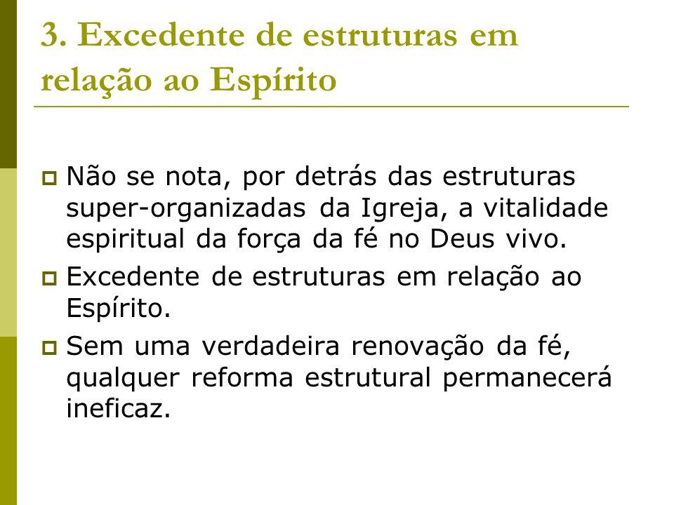 3. Excedente de estruturas em relação ao Espírito
