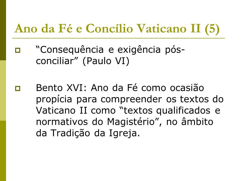 Ano da Fé e Concílio Vaticano II (5)