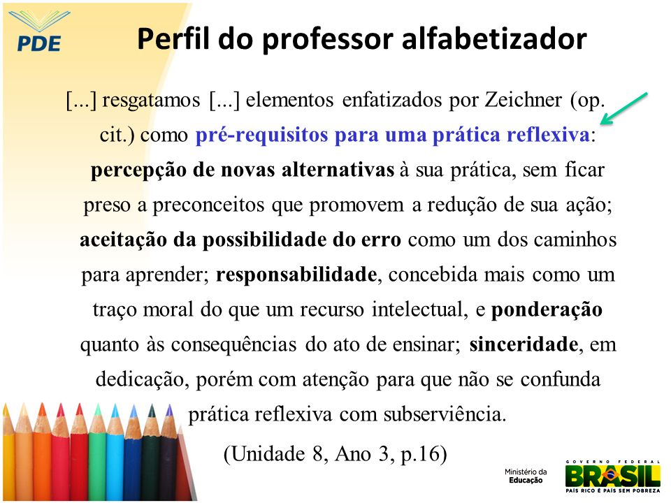 Perfil do professor alfabetizador