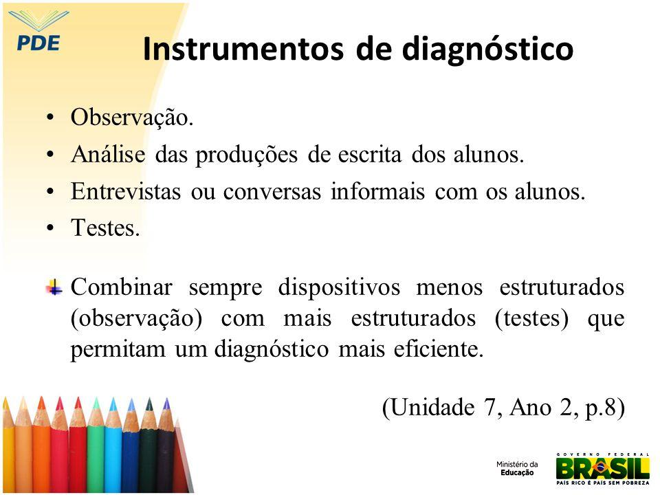 Instrumentos de diagnóstico