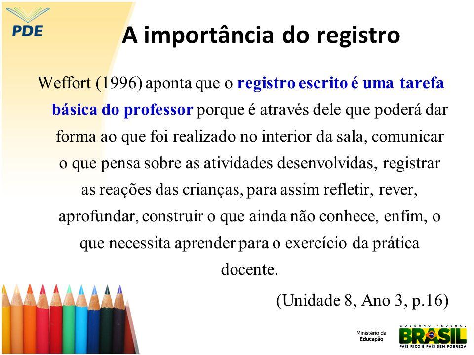 A importância do registro
