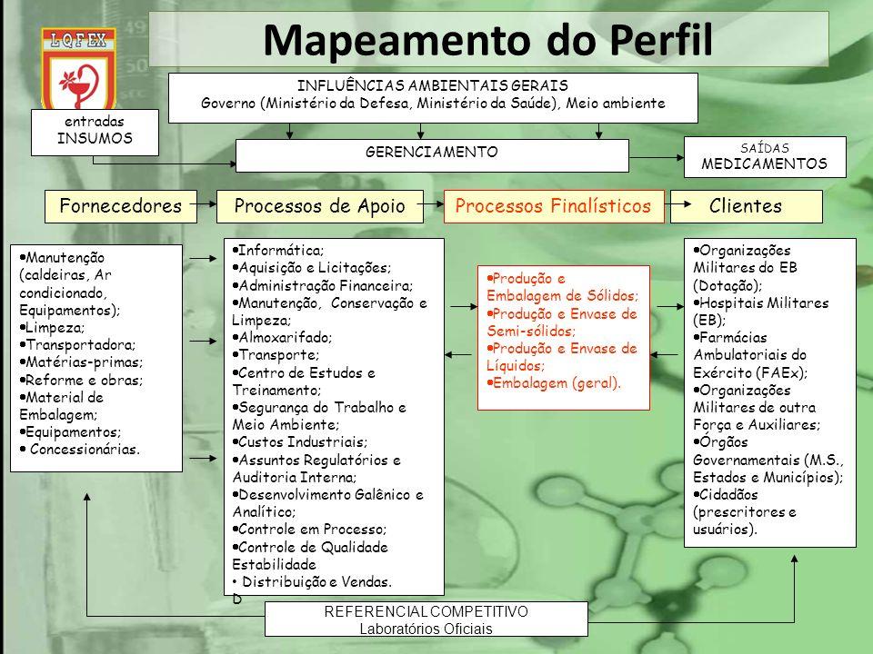 Mapeamento do Perfil Fornecedores Processos de Apoio