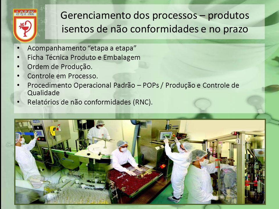Gerenciamento dos processos – produtos isentos de não conformidades e no prazo