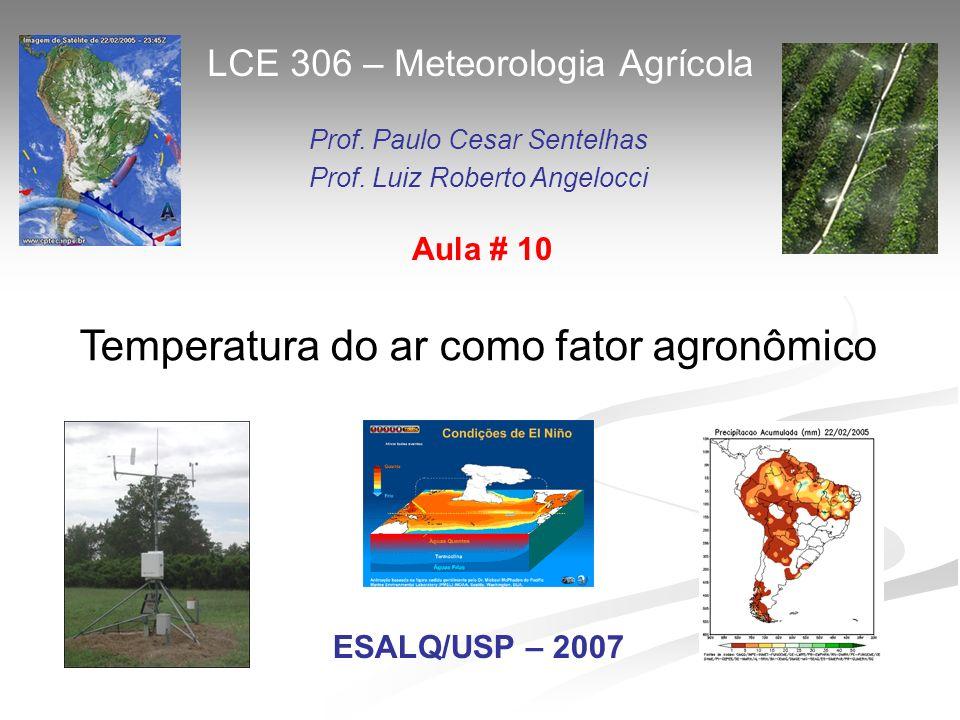 Temperatura do ar como fator agronômico