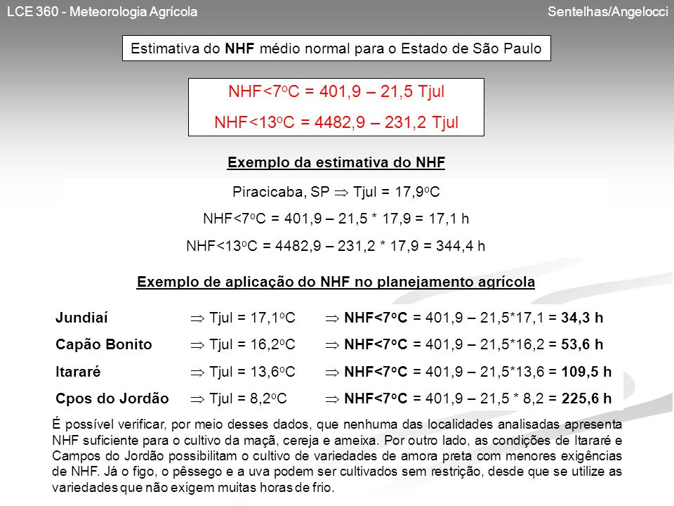 NHF<7oC = 401,9 – 21,5 Tjul NHF<13oC = 4482,9 – 231,2 Tjul