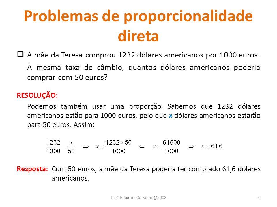 Problemas de proporcionalidade direta