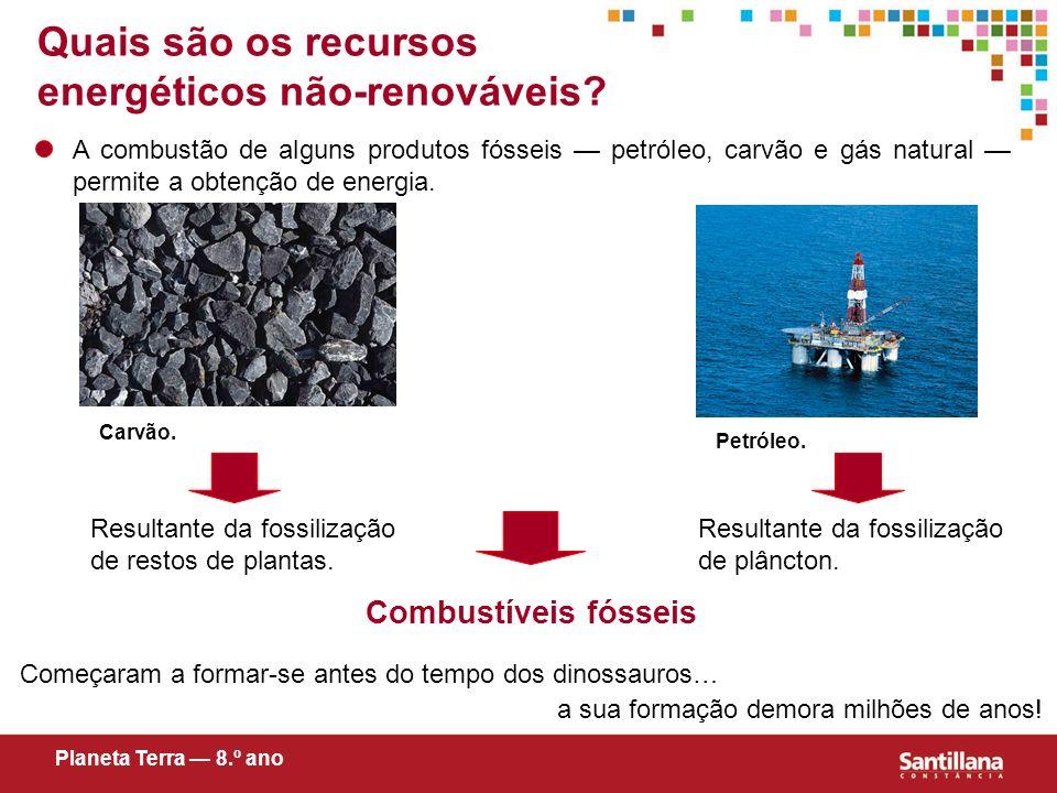 Quais são os recursos energéticos não-renováveis