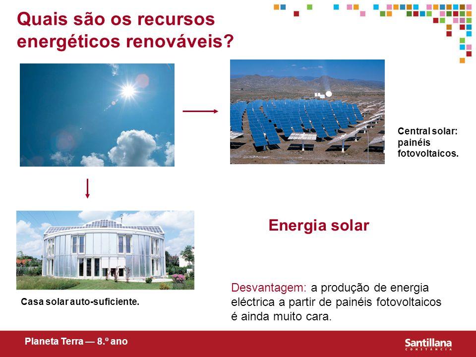 Quais são os recursos energéticos renováveis