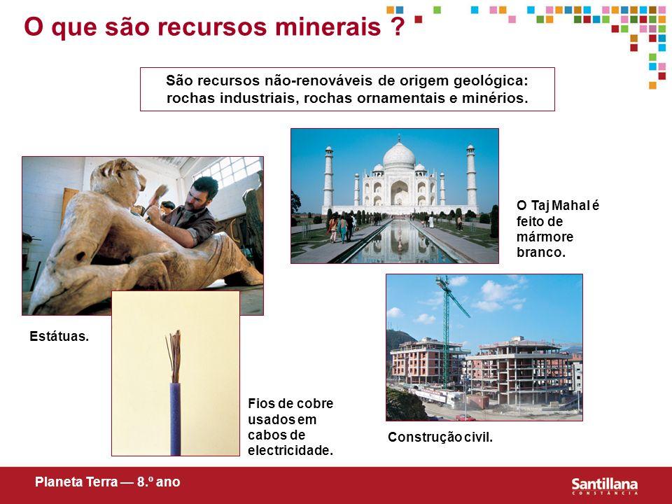 O que são recursos minerais