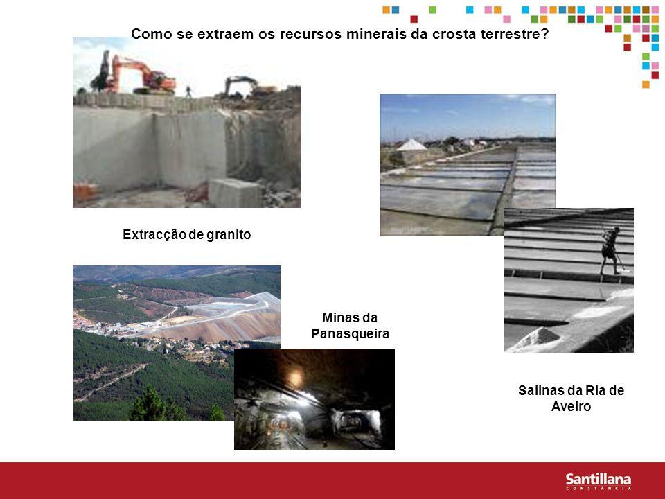 Como se extraem os recursos minerais da crosta terrestre