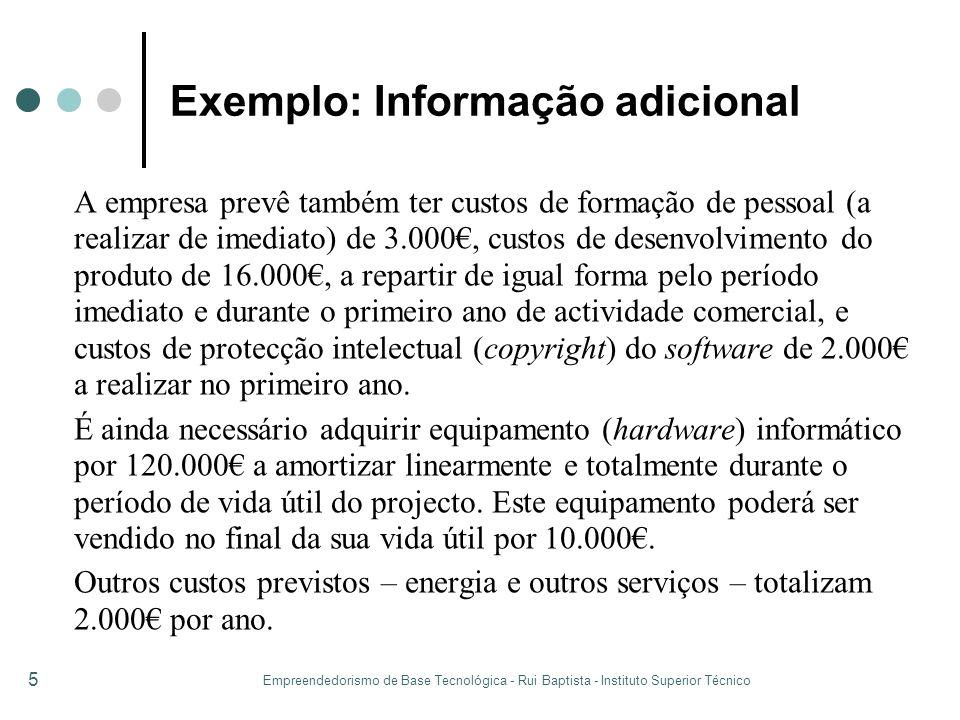 Exemplo: Informação adicional