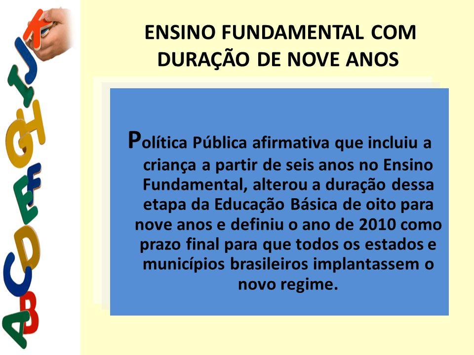 ENSINO FUNDAMENTAL COM DURAÇÃO DE NOVE ANOS