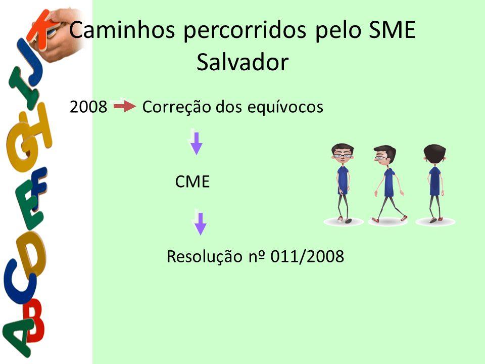 Caminhos percorridos pelo SME Salvador