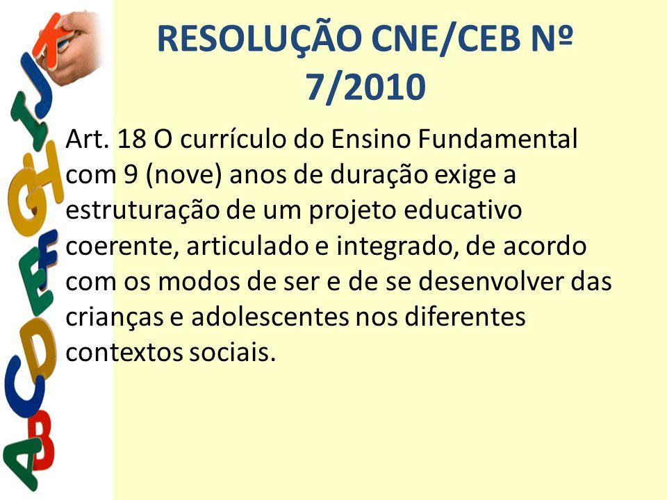 RESOLUÇÃO CNE/CEB Nº 7/2010